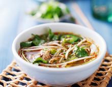 Bowl Of Vietnamese Pho Tai Beef Soup