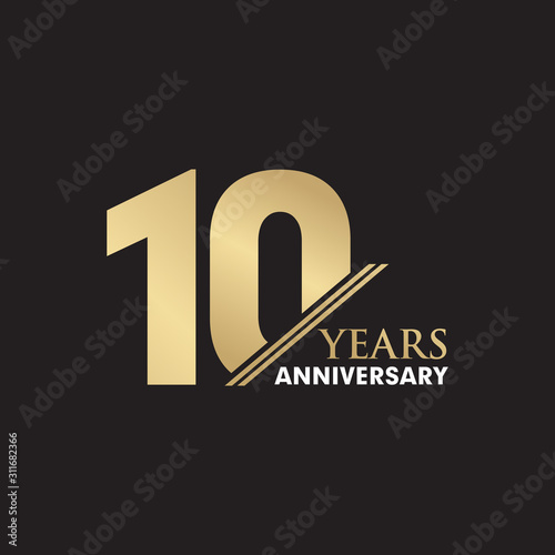 Fotomural 10th Year anniversary emblem logo design vector template