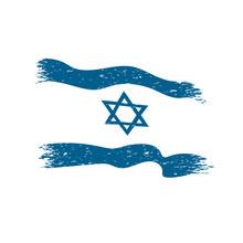 Israel Flag In Grunge Style Ve...