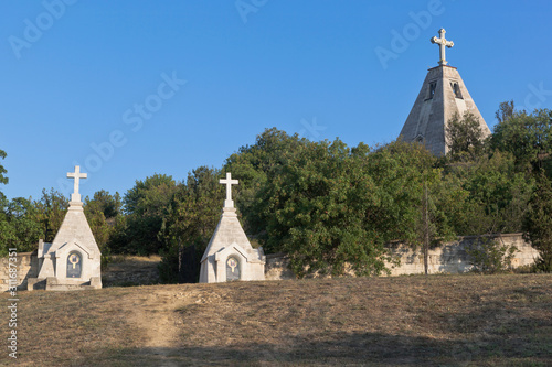 Fotografie, Tablou  Fraternal cemetery and St