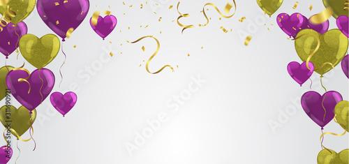 Fototapeta Happy New Year 2020 Design template holiday background Celebration Vector illustration.luxury greeting obraz na płótnie