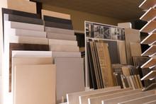 Various Ceramic Tile Samples In Store. Total Wholesale