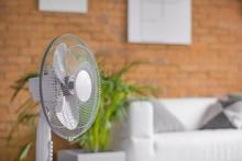 Modern Electric Fan In Room