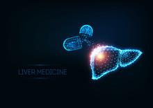 Futuristic Liver Medical Treat...