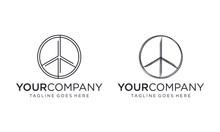 Abstract Peace Icon For Logo Design Vector Editable