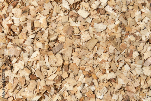 Fotografie, Obraz  Dry wood  sawdust background