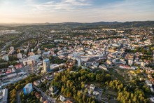 Aerial View Of Liberec City From Above