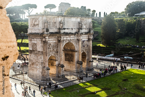 Italy / Rome 14. December 2019 Triumphal Arch of Titus Wallpaper Mural