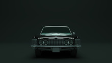 Powerful Black Gangster Luxury 1960's Style Car 3d Illustration 3d Render