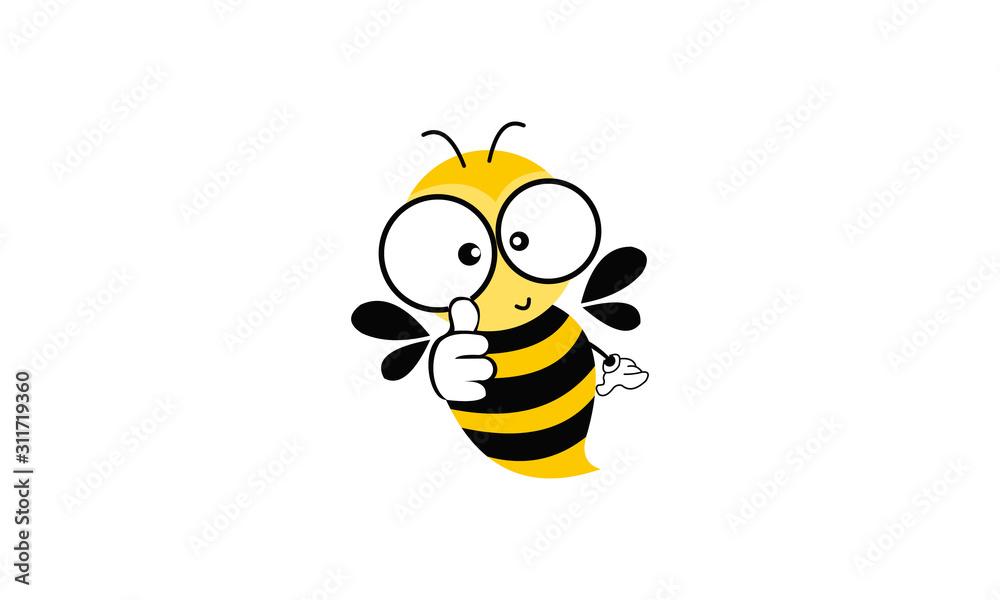Fotografie, Obraz bee with honey