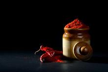 Red Chili Pepper Powder In Cla...