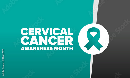 Cuadros en Lienzo  Cervical Cancer Awareness Month