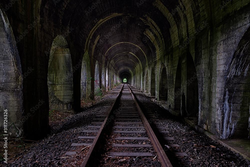Fototapeta Old train tunnel