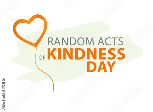Photo Random acts of kindness day emblem isolated vector illustration