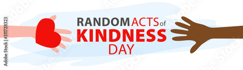 Random acts of kindness day emblem isolated vector illustration Wallpaper Mural
