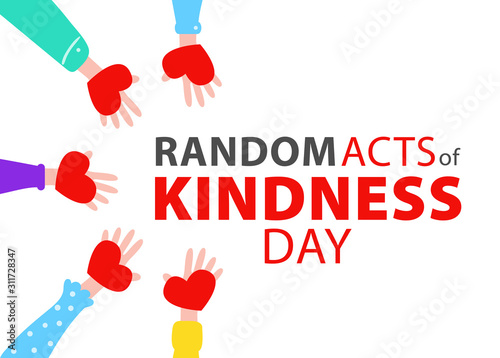 Random acts of kindness day emblem isolated vector illustration Canvas Print