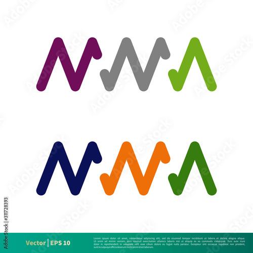 Photo M M A Initial Letter Vector Logo Template Illustration Design
