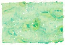 緑の水彩絵の具でスポンジを使って描いた背景素材