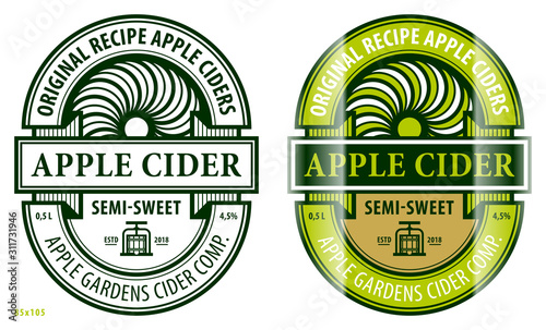 Fotografia Apple cider label template