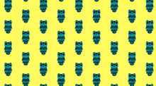 Pattern Owl Yellow Background Children