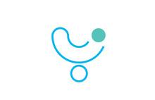 Letter Y Logo Line Alphabet De...