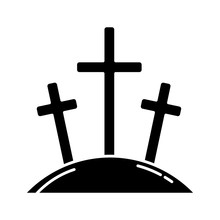 Calvary Hill Glyph Icon. Three...