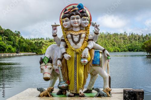 Statue at Grand Bassin aka Ganga Talao crater lake in the centre of Mauritius Wallpaper Mural