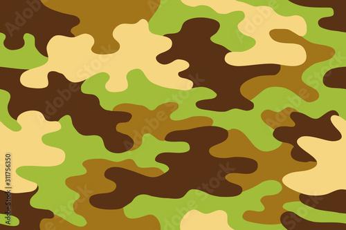 Cuadros en Lienzo  Seamless classic camouflage pattern