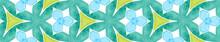Blue Green Retro Seamless Border Scroll. Geometric