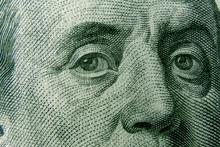 Closeup On Benjamin Franklin E...