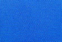 Close-up Of Blue Nylon Fabric ...