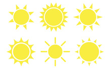 Sun Flat Style Icon Weather An...