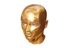 Golden Face Of Robot