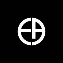EA Monogram Logo Circle Ribbon Style Design Template