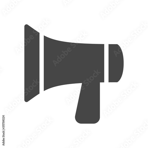 megaphone loudspeaker icon in flat style isolated on white background vector illustration buy this stock vector and explore similar vectors at adobe stock adobe stock fotolia