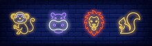 Wild Animals Neon Sign Set