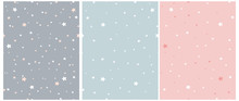 Tiny Stars Vector Patterns. Ir...