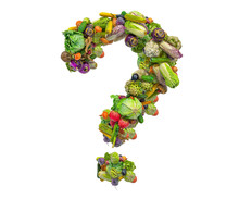 Question Mark From Vegetables,...