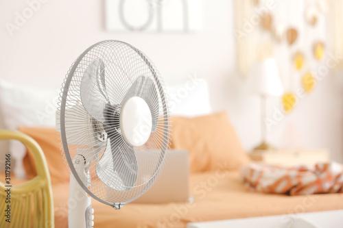 Vászonkép Modern electric fan in bedroom