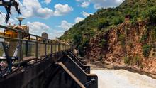 Dam Wall With Flood Gates