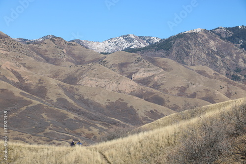 Dry landscape of the Wasatch Mountain foothills in late Fall