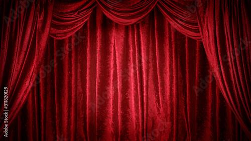 Photo 赤いベルベットのステージ
