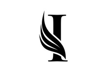 Initial Letter I Logo And Wing...