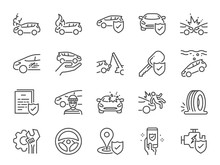 Car Insurance Icon Set. Includ...