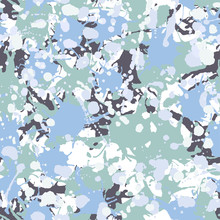 Black, Teal, Green, Blue, White Camouflage Seamless Pattern