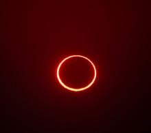 Annular Solar Eclipse Of The Sun In Hofuf, Saudi Arabia