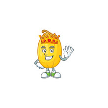 Cool King Of Spaghetti Squash On Cartoon Character Style