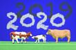 canvas print picture - 2019 2020 agriculture agricole environnement elevage vache bovin