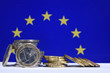 euro argent finances banques bourse change pieces europe