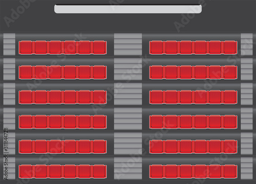auditorium seat map with stair Canvas Print